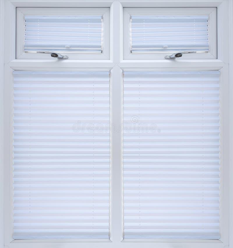 Белым окно застекленное двойником стоковое фото