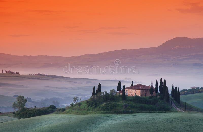 Бельведер Тоскана стоковое изображение