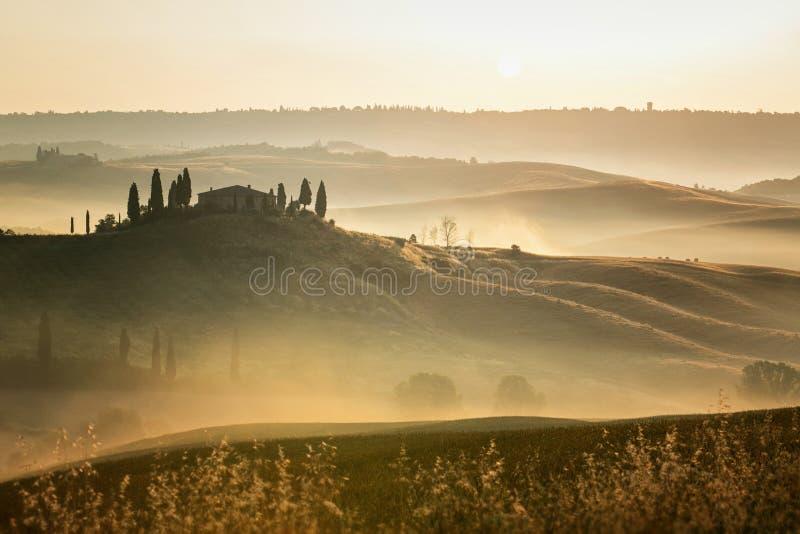 Бельведер Тосканы стоковые фотографии rf