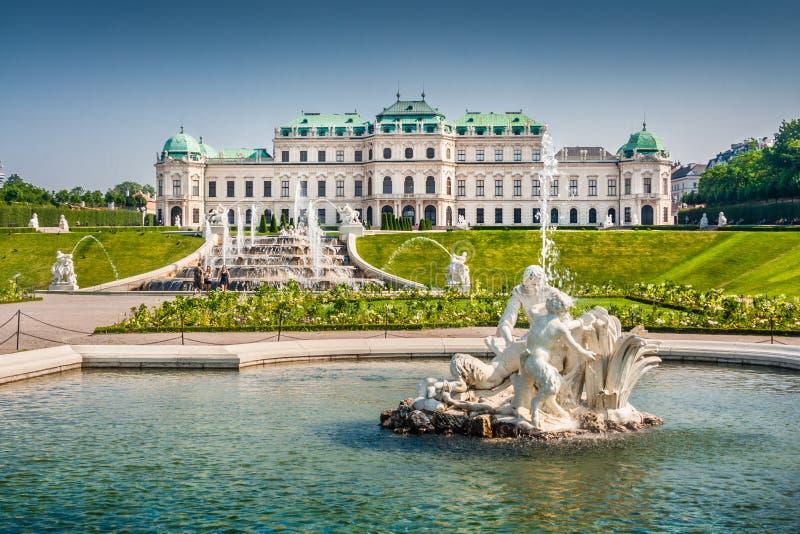 Бельведер Schloss, вена, Австрия стоковое изображение