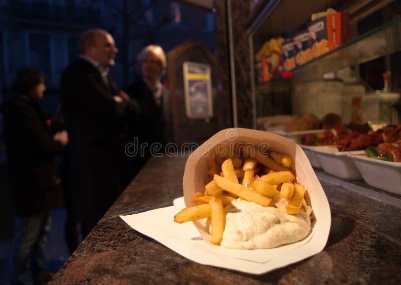 Бельгийские фраи стоковые фото