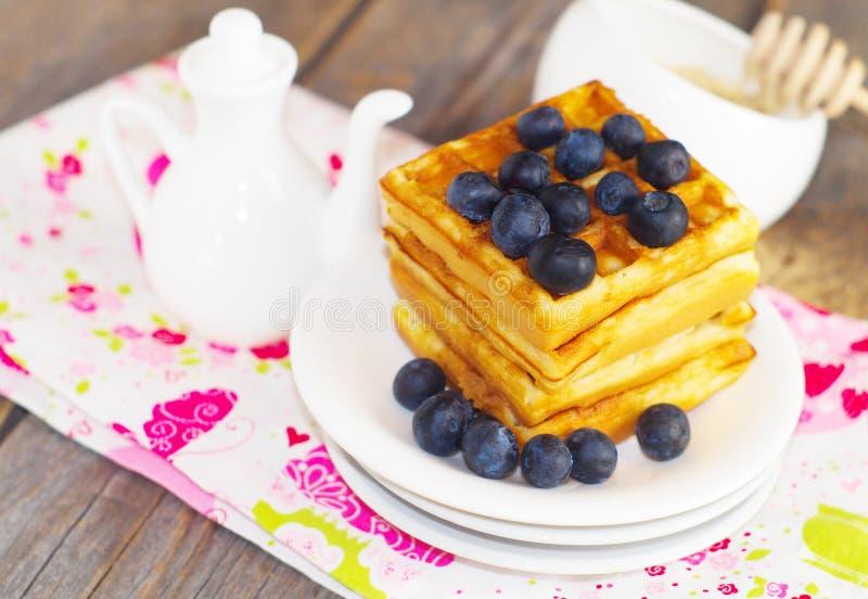 бельгийские waffles стоковая фотография