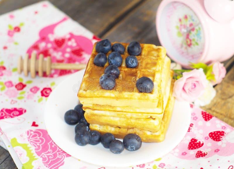 бельгийские waffles стоковые фотографии rf