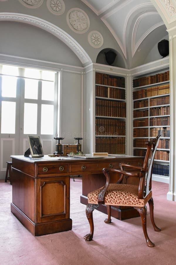 Библиотека Wimpole Hall стоковые изображения rf