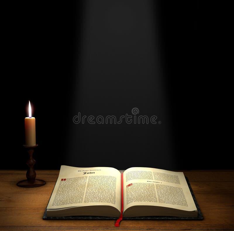 библия открытая иллюстрация штока