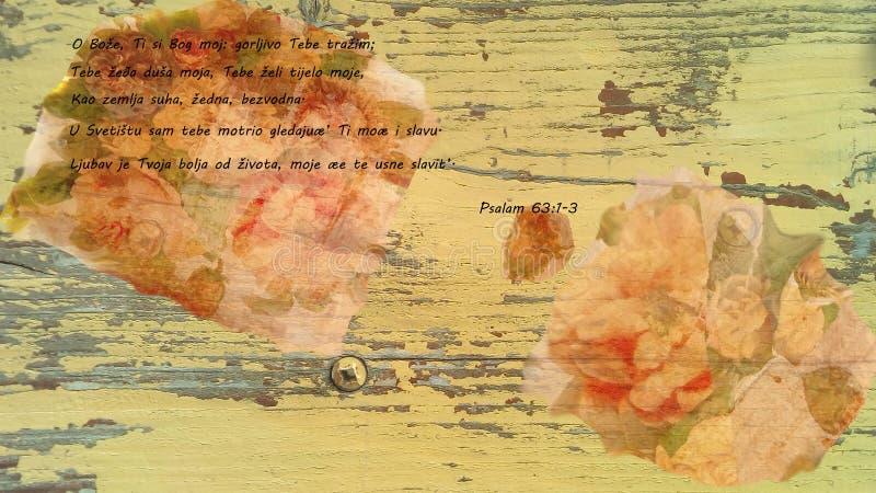Библия - псалом короля Дэвида стоковое изображение rf