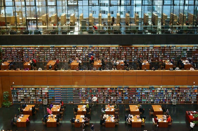 Библиотека студента стоковое фото