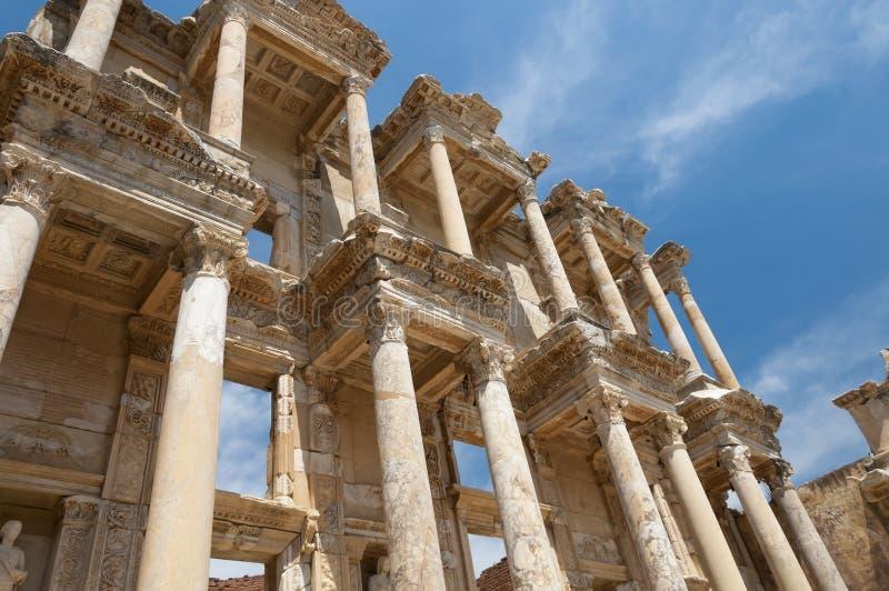 Библиотека Celsus, древний город Ephesus, Selcuk, Турция стоковая фотография rf