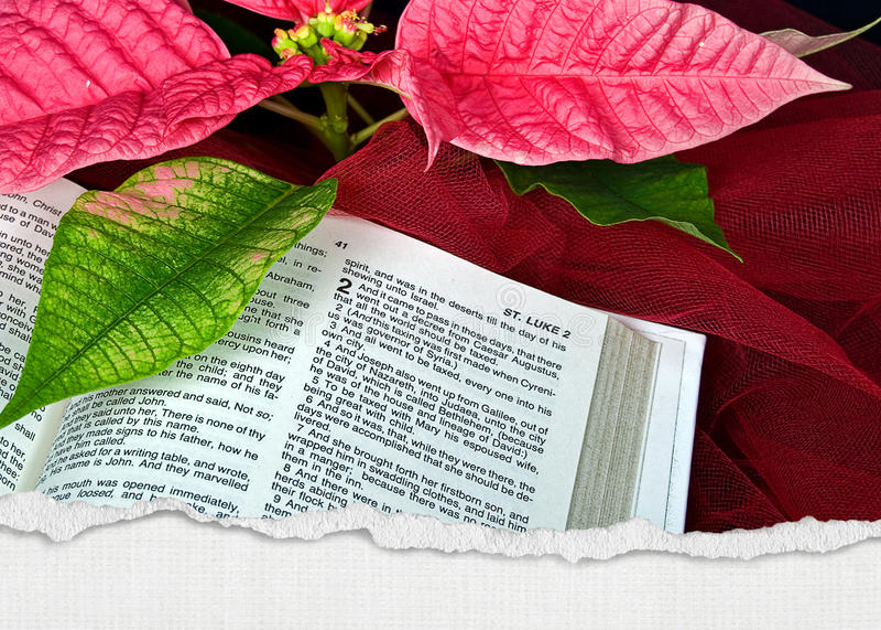 Библия рождества стоковое фото rf