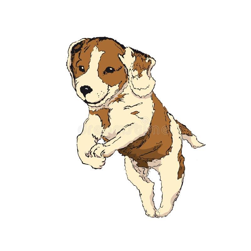 Бигль щенка иллюстрация штока