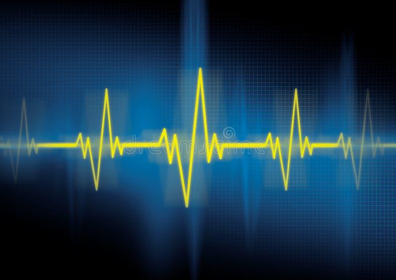 биение сердца кардиологии иллюстрация вектора