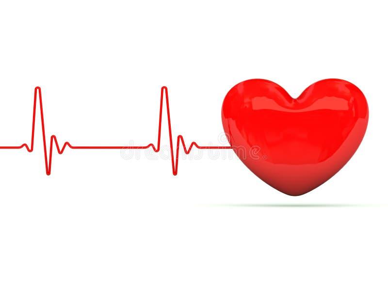 биение сердца сердца иллюстрация штока