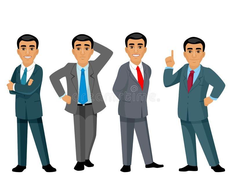 4 бизнесмена на белой предпосылке бесплатная иллюстрация