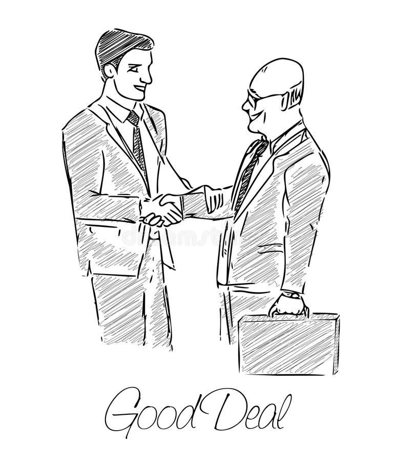2 бизнесмена сделанного много иллюстрация вектора