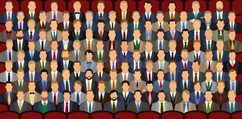 Download 100 бизнесменов иллюстрация вектора. иллюстрации насчитывающей безлико - 33734317