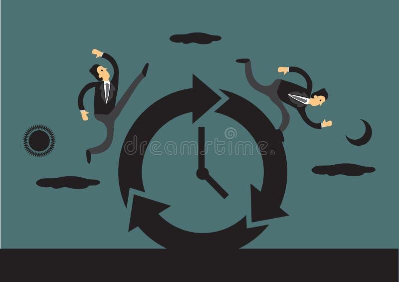 Бизнесмены бежать круглосуточно бесплатная иллюстрация