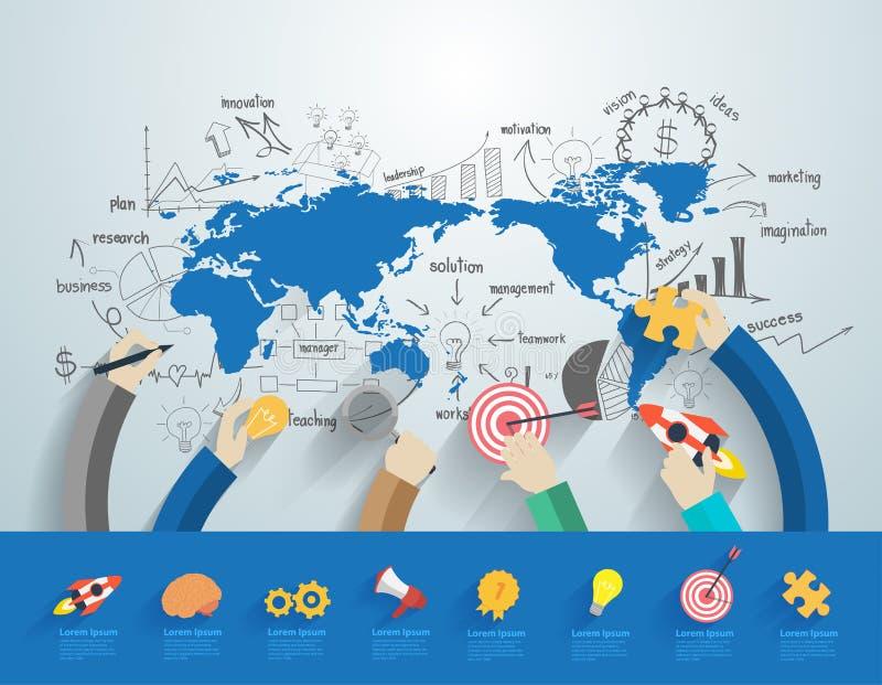 Бизнесмены вектора работая концепция команды офиса корпоративная иллюстрация штока