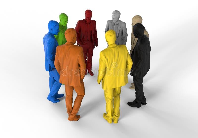 Бизнесмены встречая иллюстрацию иллюстрация вектора