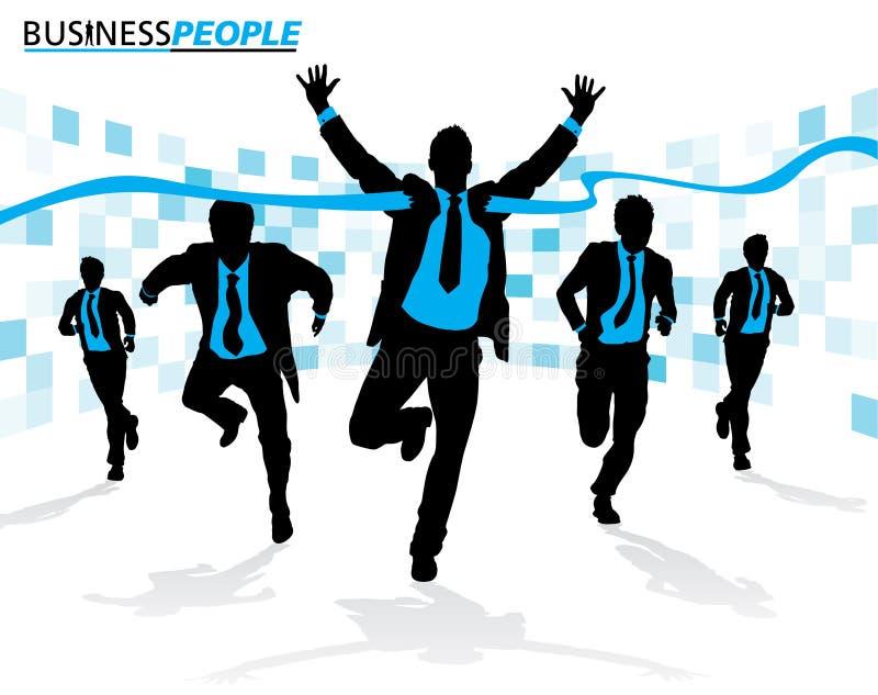 Бизнесмены в гонке карьеры бесплатная иллюстрация