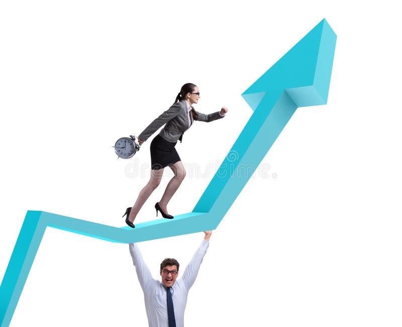 Бизнесмены в концепции дела восстановления экономики стоковые фотографии rf