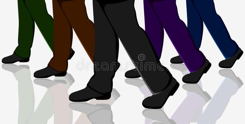 бизнесмены гулять иллюстрация вектора