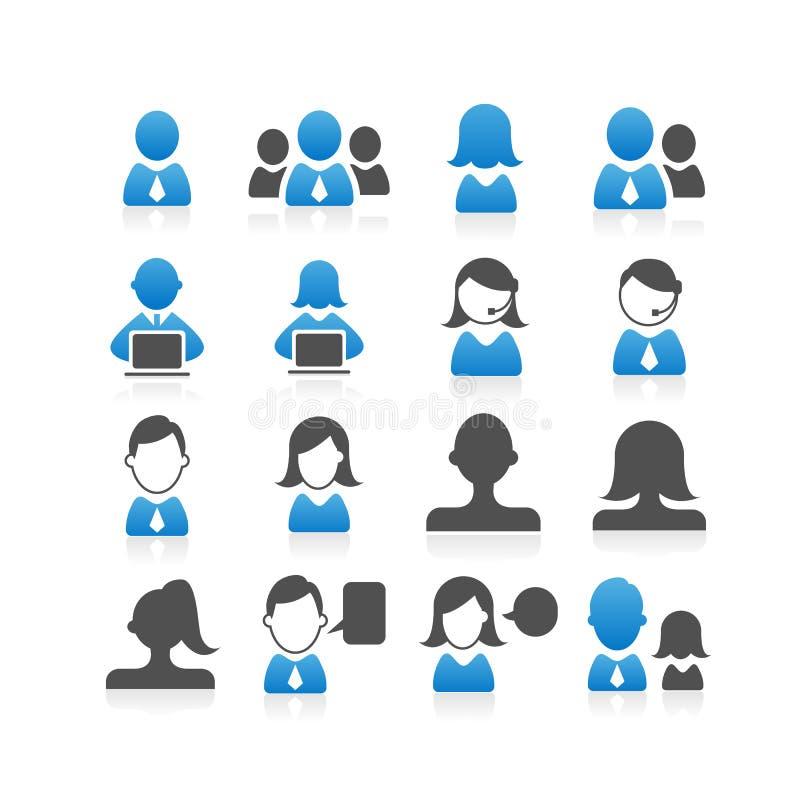 Бизнесмены иконы иллюстрация штока