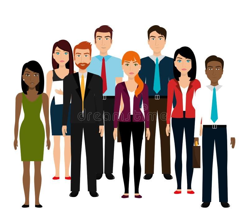 Бизнесмены и предприниматель бесплатная иллюстрация