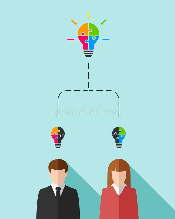 Бизнесмены как концепция сыгранности бесплатная иллюстрация