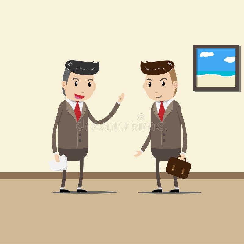 Бизнесмены, команда дела, сотрудник и концепция сыгранности иллюстрация вектора