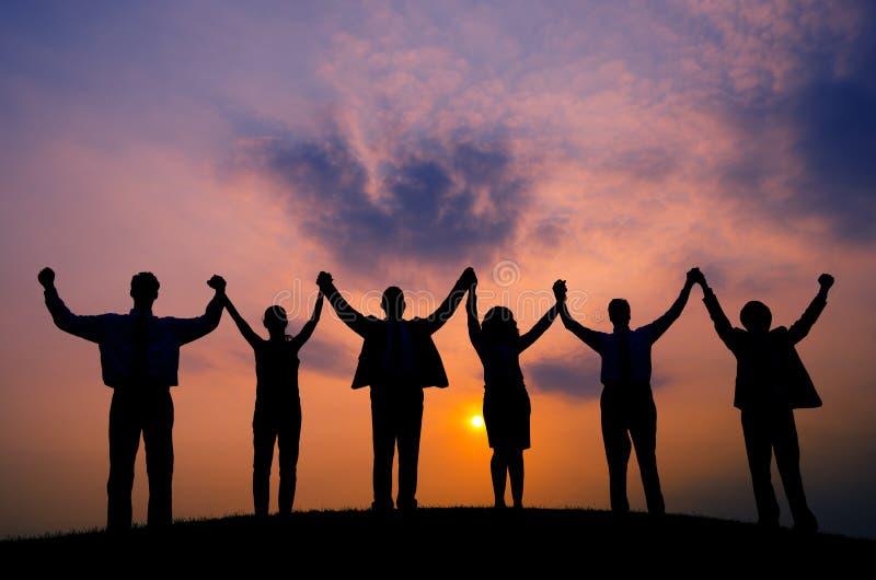 Бизнесмены концепции единства команды единения корпоративной стоковая фотография rf