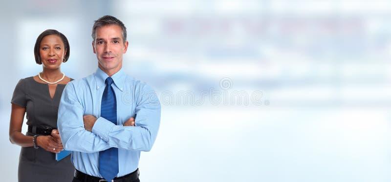 бизнесмены портрета стоковое фото rf