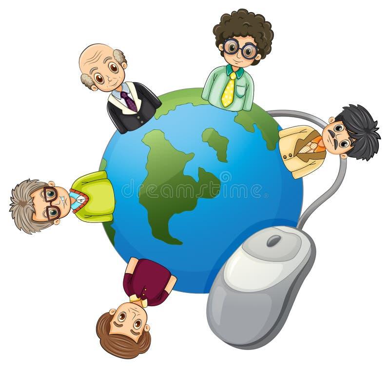 Бизнесмены по всему миру бесплатная иллюстрация