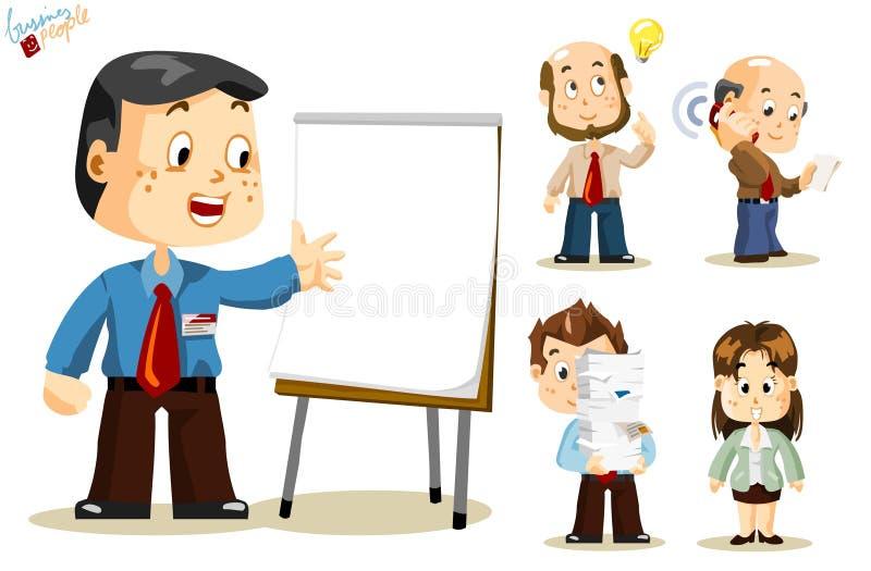 бизнесмены представления иллюстрация вектора