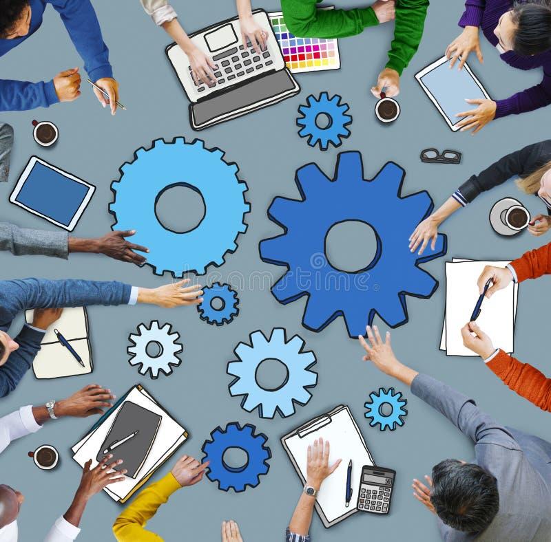 Бизнесмены работая в конференции стоковые изображения