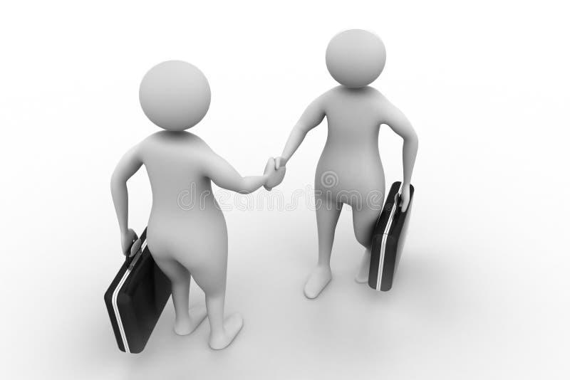 2 бизнесмены связывают совместно иллюстрация штока