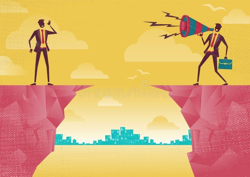 Бизнесмены связывая от расстояния бесплатная иллюстрация