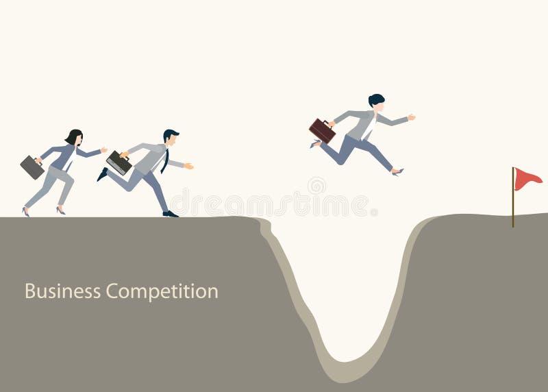 Бизнесмены скача над зазором бесплатная иллюстрация