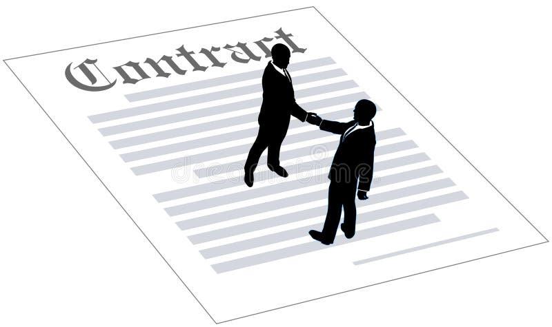 Бизнесмены согласования знака контракта иллюстрация штока
