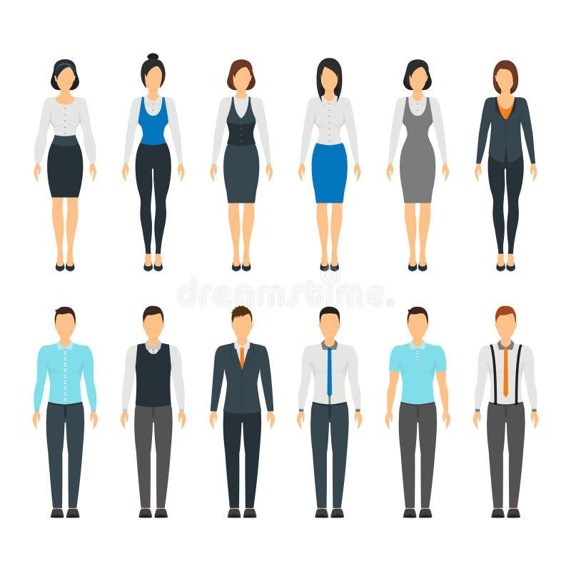 Бизнесмены стиля платья штата шаржа установленного вектор бесплатная иллюстрация