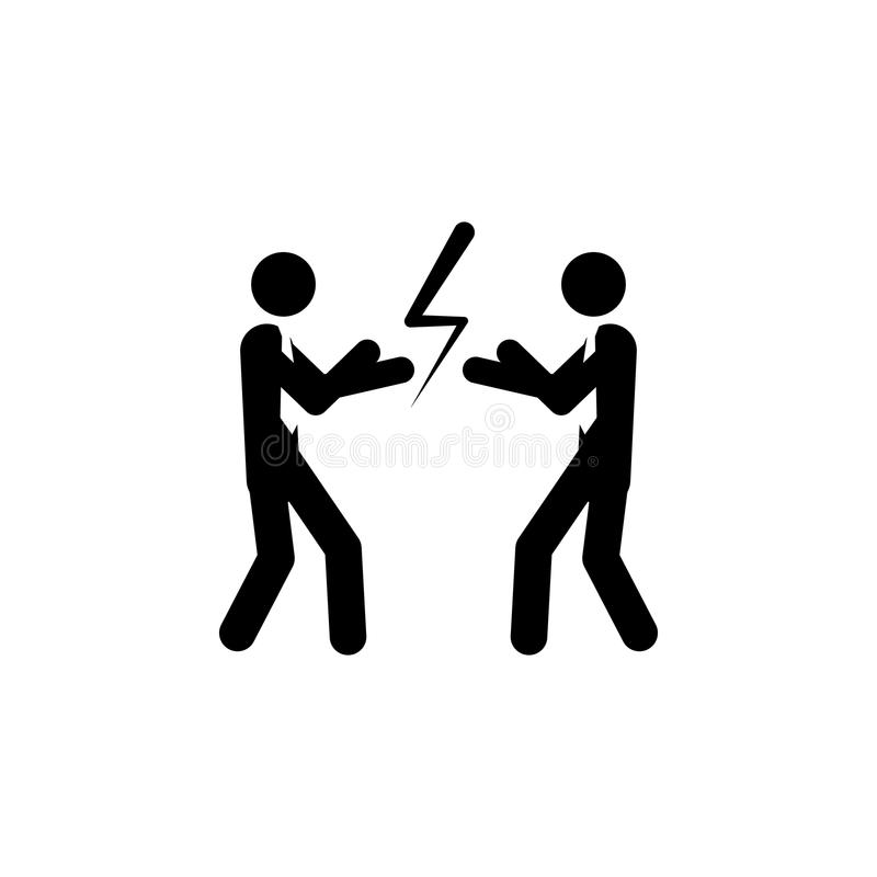 Бизнесмены с перчатками бокса готовыми для боя Соперничество дела, концепция конкуренции Простая иллюстрация стиля на белом ба бесплатная иллюстрация