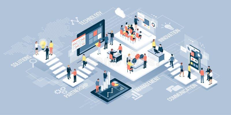 бизнесмены технологии иллюстрация штока