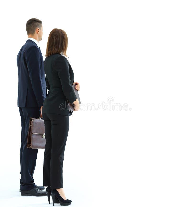 бизнесмены успешные Задняя сторона стоковое фото