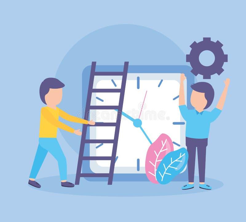 Бизнесмены хронометрируют творческие способности иллюстрация штока