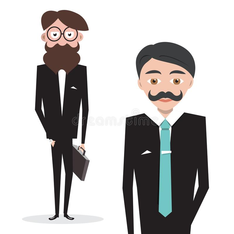 бизнесмены цвет 5 бизнесмена имеет версии вектора иллюстрации иллюстрация вектора