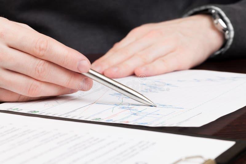 Бизнесмены читая подряд стоковое изображение rf