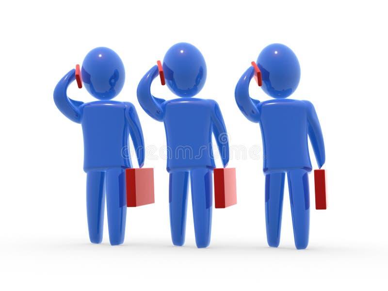 Download бизнесмены 3 иллюстрация штока. иллюстрации насчитывающей иноходи - 6860335