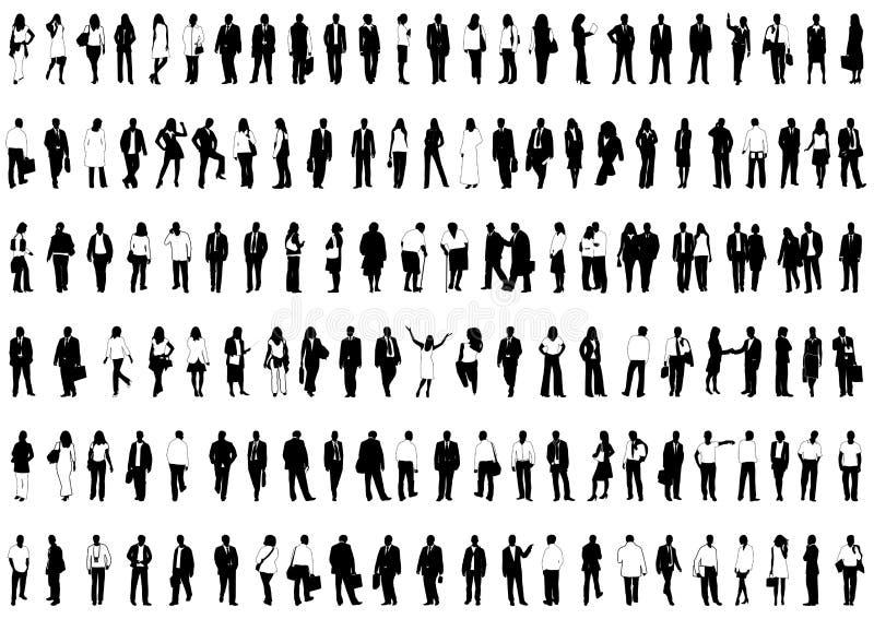 бизнесмены иллюстрация вектора