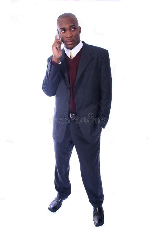 бизнесмен афроамериканца стоковое изображение
