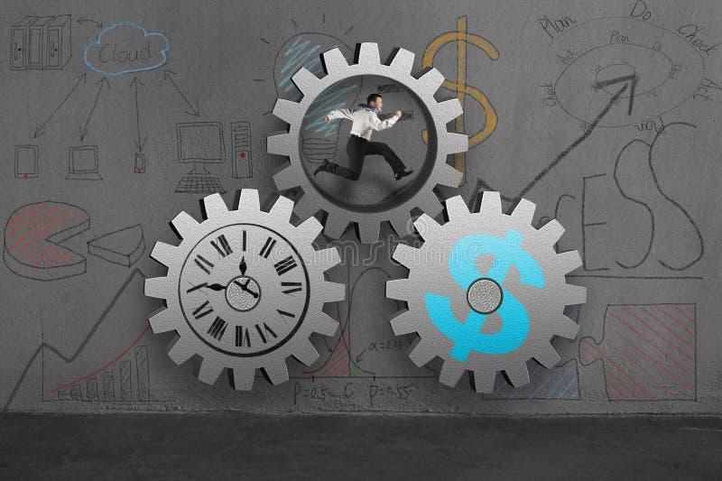 Download Бизнесмен бежать внутренние конкретные шестерни с Doodles Иллюстрация штока - иллюстрации насчитывающей machinery, тяжело: 41653701