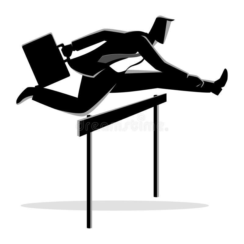 Бизнесмен бежать с портфелем иллюстрация вектора